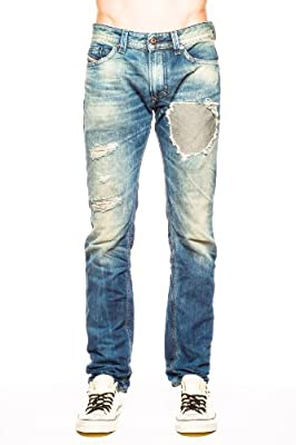 Diesel Men's Thavar Straight Slim-Leg Jean 0830P, Denim, 32