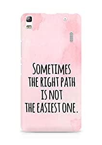 AMEZ the right path is not easy Back Cover For Lenovo K3 Note