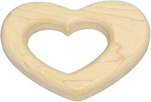 Heart Shaped Maple Teether - Made in USA