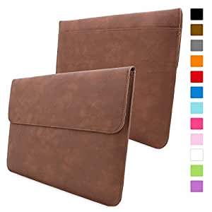 Macbook Pro 15 Case, Snugg™ - [Brown] Leather Sleeve Case [Lifetime Guarantee] for Apple Macbook Pro 15 inch Retina