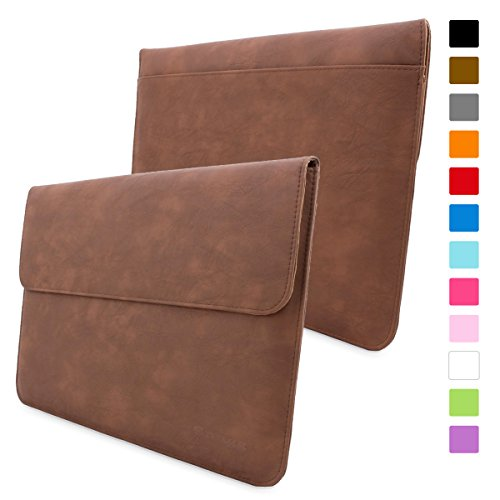 Snugg Macbook Pro 15 Case - Leather Sleeve Case with Lifetime Guarantee (Distressed Brown) for Apple Macbook Pro 15 Inch