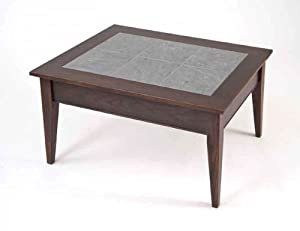 "Shaker Slate Top Coffee Table (Chestnut) (18""H x 33.25""W x 24.75""D)"