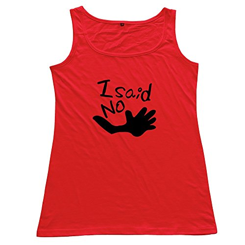 Red Said No Hands Vintage Top For Female Size L