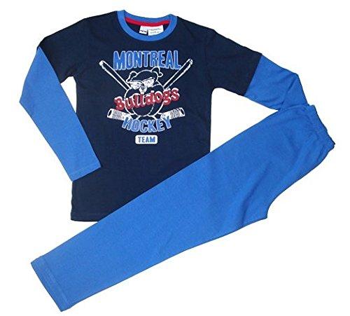 Step In Kinder Schlafanzug 2-tlg.,Größe 122/128 Doppelgrößen in der Farbkomibnation blau/hellblau.