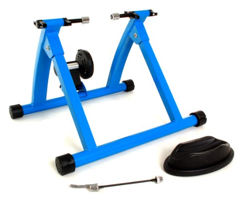 Conquer Indoor Bicycle Cycling Trainer Exercise Stand, Blue