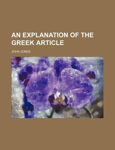 An explanation of the Greek article