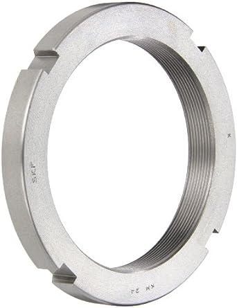 SKF Standard Locknut, Right Hand, Not Self-Locking, Steel, Metric