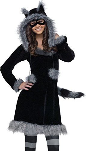 [Mememall Fashion Girls Teen Tween Raccoon Costume Plush Furry Sweet Dress Hoodie] (Sweet Raccoon Girls Costumes)