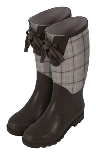 Laura Ashley 3A074492 Contemporary Wellington Waterproof Boot, Keynes Natural, Size 9.5 front-849119