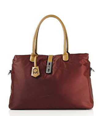 Noble Mount Oversized 'Arizzo' Handbag - Burgandy