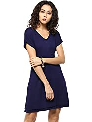 Femella Women's Navy Jersey Skater Dress( DS-1446406-1029-NAV-XL)