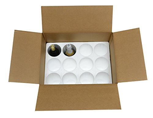 12 Bottle Styrofoam Wine/Champagne Shipping Cooler - COOL-12 (Wine Shipper Box compare prices)