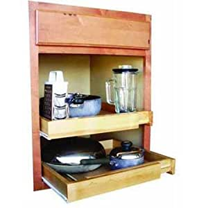 Bamboo expandable kitchen cabinet pull out for Bamboo kitchen cabinets reviews