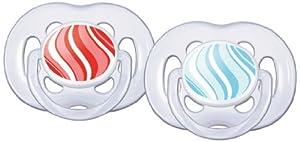 Philips-Avent 2 Sucettes Aérées Tendance - Silicone - 6-18 Mois- Coloris aléatoire