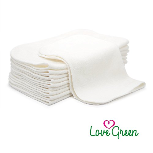 Love Green 100% Pure Organic Bamboo Cloth Natural Baby Wipes