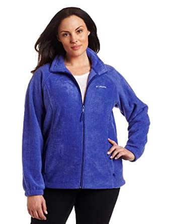 Columbia Women's Plus Size Benton Springs Full Zip Fleece Jacket, Clematis Blue, 1X