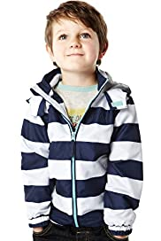 Shower Resistant Hooded Striped Mac