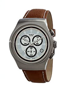 Swatch Irony Chrono Instinctively Right Silver Dial Men's watch #YOS441