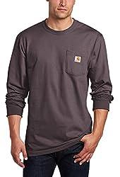 Carhartt Men's Big & Tall Workwear Pocket Long Sleeve T-Shirt Midweight Jersey Original Fit K126