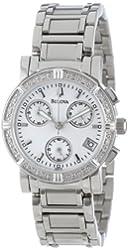Bulova Women's 96R19 Diamond-Studded Chronograph Watch