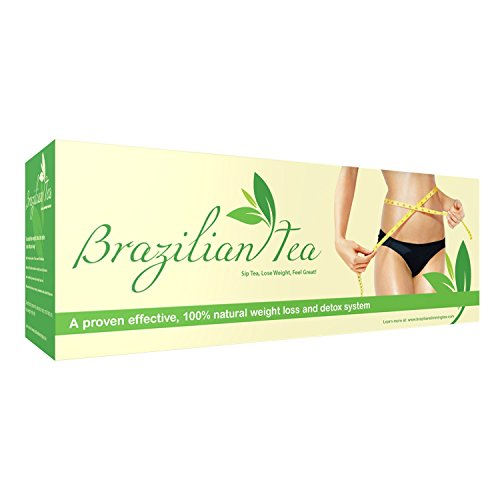 Brazilian Slimming Tea - Weight Loss Tea System for Fat Burning, Energy, Detox, Appetite Control, Bloating & Body Cleanse. Learn the Weight Loss Secret of Brazilian Models (Number 1 Weight Loss compare prices)