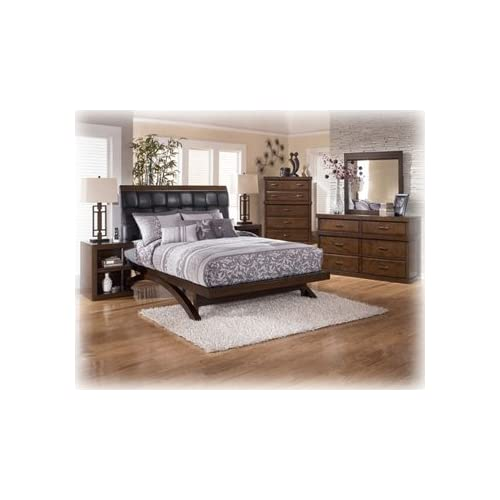 Ashley minburn queen contemporary bedroom set for Bedroom furniture amazon