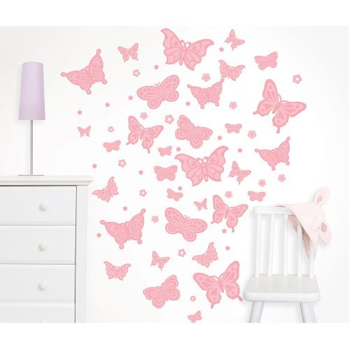 Koala Baby Butterfly Trail Wall Art Kit - 1