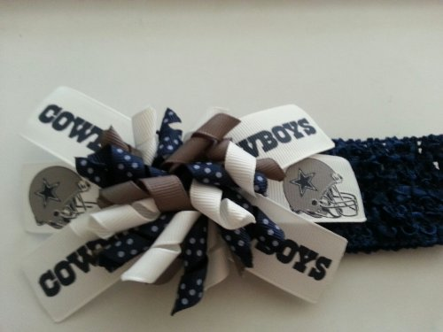 Dallas Cowboys Detachable Hair Bow with Headband at Amazon.com