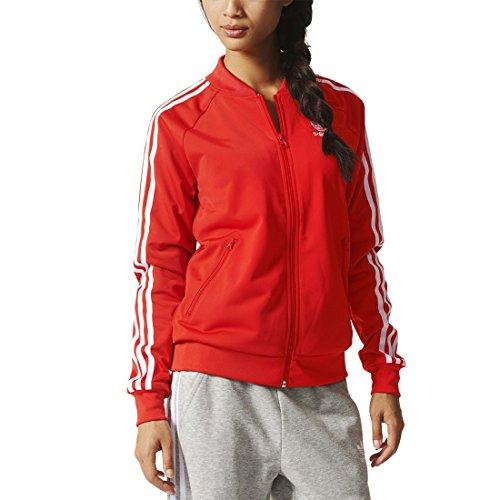 Adidas Supergirl Tt Giacca Sportiva Donna, Rosso, 42