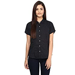 Annabelle by pantaloons Women's Casual Shirt (205000005551261_Black_XS)