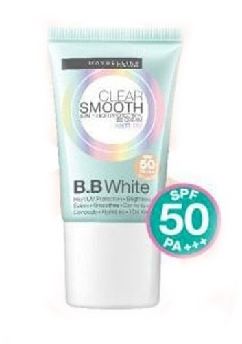 2X Maybelline Clear Smooth Bb White Cream Spf 50 Pa++ 8-In-1 Best Price Free Shipping From Thailand front-138767
