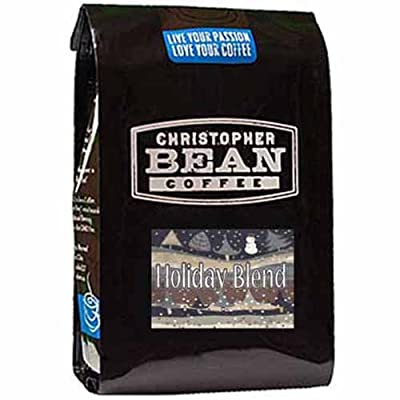 Christopher Bean Coffee Whole Bean, Holiday Blend, 12 Ounce