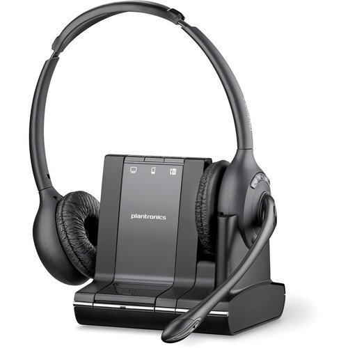 Plantronics Over-The-Head Binaural Lightweight Multi Device Wireless Noise-Canceling Headset System