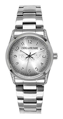 Zadig & Voltaire -Orologio da Polso, Analogico Al quarzo, Acciaio inox, Donna