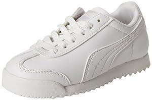 PUMA Roma Basic Kids Sneaker (Toddler/Little Kid/Big Kid) , White/Light Gray, 7 M US Toddler