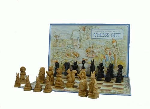 Beatrix Potter Chess set in Presentation box with Folding Card Chessboard