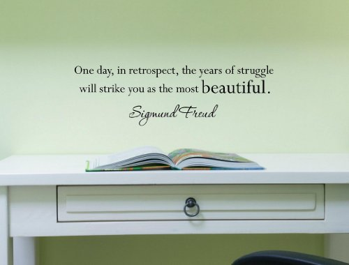 One Day, In Retrospect, The Years Of Struggle Will Strike You As The Most Beautiful. -Sigmund Freud Vinyl Wall Art Inspirational Quotes And Saying Home Decor Decal Sticker Steamss front-710735