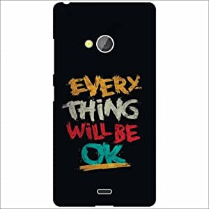 Microsoft Lumia 540 Dual SIM Back Cover - Silicon Every thing will be OK Designer Cases