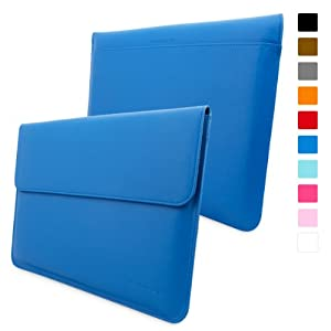 Snugg Macbook Pro 15 Case - Leather Sleeve with Lifetime Guarantee (Electric Blue) for Apple Macbook Pro 15