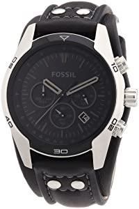 Fossil Men's Black Chronograph Watch - CH2586