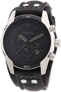 Fossil - CH2586 - Montre Homme - Quartz Analogique - Chronographe - Bracelet de Force en Cuir noir