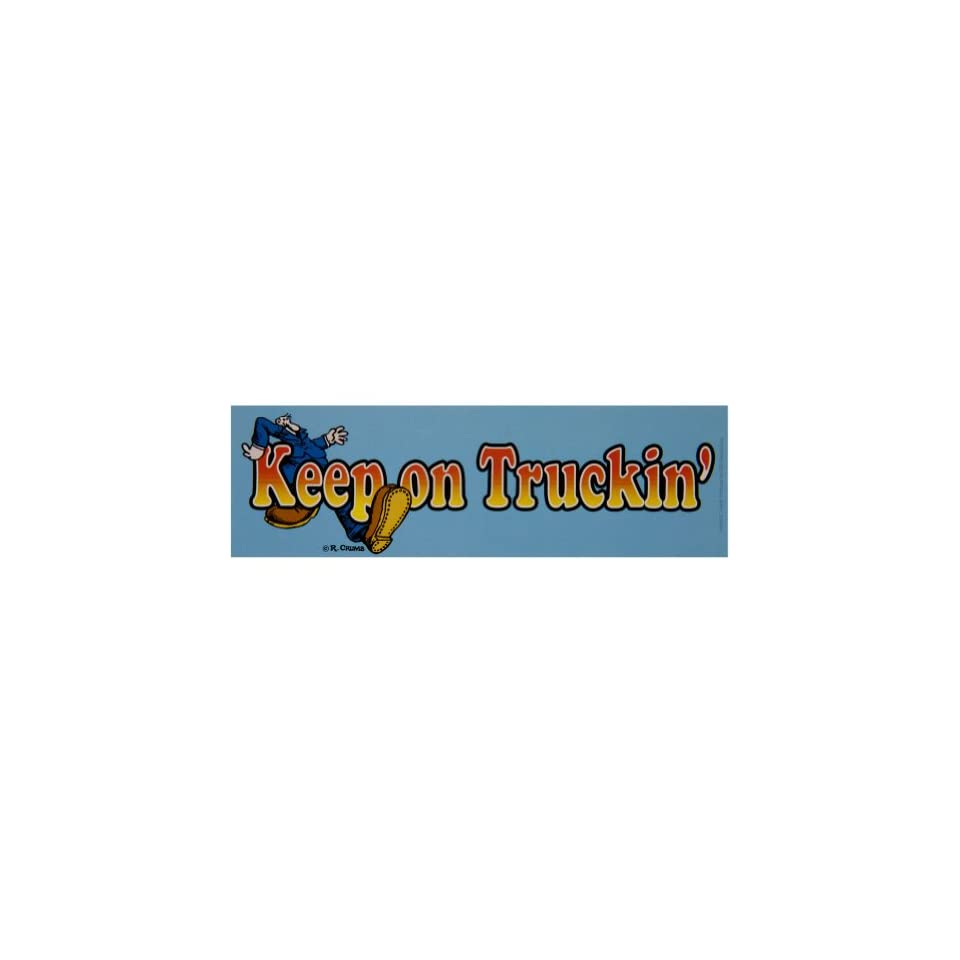 R crumb keep on truckin bumper sticker decal