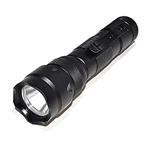 OREI 400 Lumens Professional High Quality Ultra Bright Tactical LED Flashlight with Rechargeable Lithium Battery - Charger Included