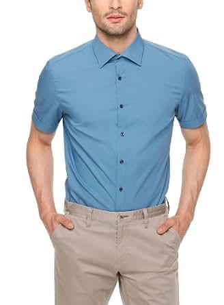 SIR Oliver Herren Slim Fit Businesshemd 12.404.22.7301, Gr. Large (Herstellergröße: 42), Blau (capri)