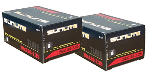 2 PACK - Tubes, 26 x 1.90-2.35 - 48mm, Standard Schrader Valve , Sunlite
