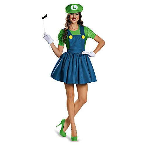 Disguise Women's Luigi Skirt Version Adult Costume