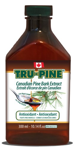 3 Bottles Of Tru-Pine Antioxidant - Canadian Pine Bark Extract Liquid 10.14 Oz With Delicious Maple Syrup Taste