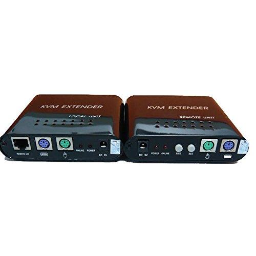 tolako KVM Extender su singolo cavo CAT-5E CAT-6cavo Ethernet, fino a 100m-PS2VGA Extender CAT5/5e/6-1locale e 1telecomando-Supporta Windows, Linux, Mac