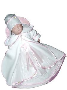 Capa de la chaqueta abrigo de bautizo para niño y niña de la fiesta de bodas del bautismo del bebé, tamaño 80 86 JE12R