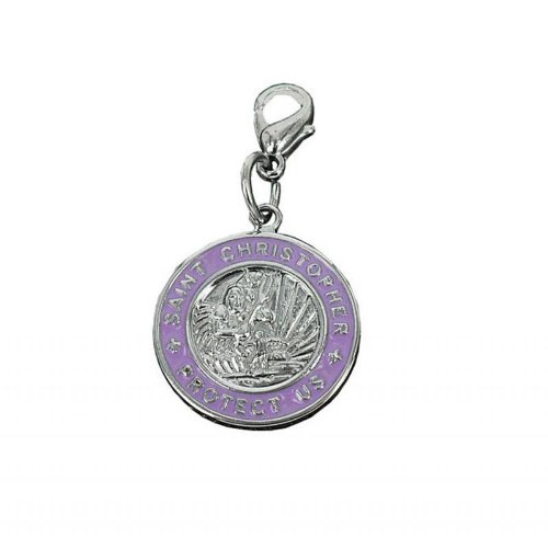 Charm St Christopher in steel by Charming Charms. Free shipping up to 30£